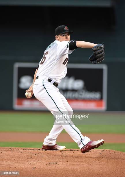 Patrick Corbin of the Arizona Diamondbacks delivers a warm up pitch against the Pittsburgh Pirates at Chase Field on May 12 2017 in Phoenix Arizona