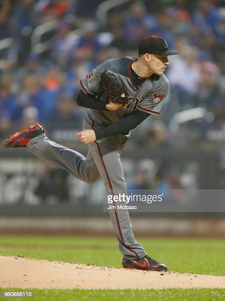 Patrick Corbin of the Arizona Diamondbacks in action against the New York Mets at Citi Field on May 19 2018 in the Flushing neighborhood of the...