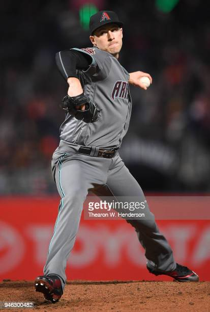 Patrick Corbin of the Arizona Diamondbacks pitches against the San Francisco Giants in the bottom of the fourth inning at ATT Park on April 10 2018...