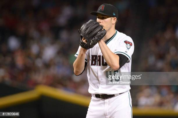 Patrick Corbin of the Arizona Diamondbacks prepares to deliver a pitch against the Philadelphia Phillies at Chase Field on June 23 2017 in Phoenix...