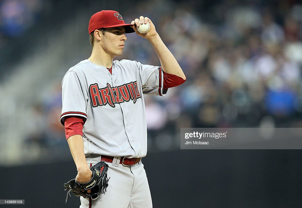 Patrick Corbin #46 of the Arizona Diamondbacks stands on the mound in the fourth inning against the New York Mets at Citi Field on May 5, 2012 in the Flushing neighborhood of the Queens borough of New York City.