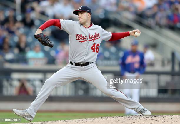 Patrick Corbin of the Washington Nationals delivers a pitch in the first inning against the New York Mets at Citi Field on May 20 2019 in the...