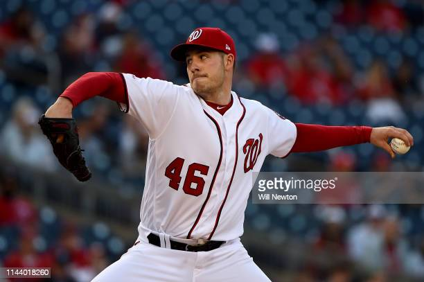 Patrick Corbin of the Washington Nationals pitches against the New York Mets during the first inning at Nationals Park on May 15 2019 in Washington DC