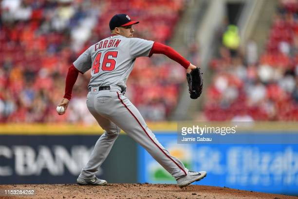 Patrick Corbin of the Washington Nationals pitches against the Cincinnati Reds at Great American Ball Park on May 31 2019 in Cincinnati Ohio