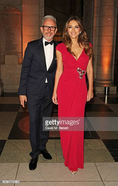 Patrick Cox and Elizabeth Hurley attend as PORTER hosts a special performance of Letters Live in celebration of their Incredible Women of 2016 at The...