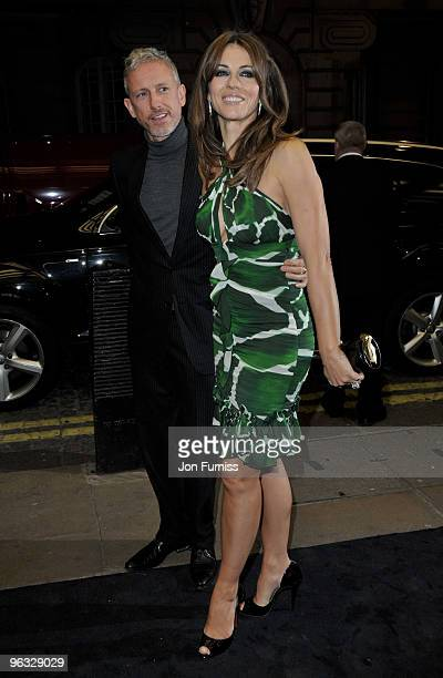 Patrick Cox and Elizabeth Hurley attends the 'A Single Man' film premiere at the Curzon Mayfair on February 1 2010 in London England