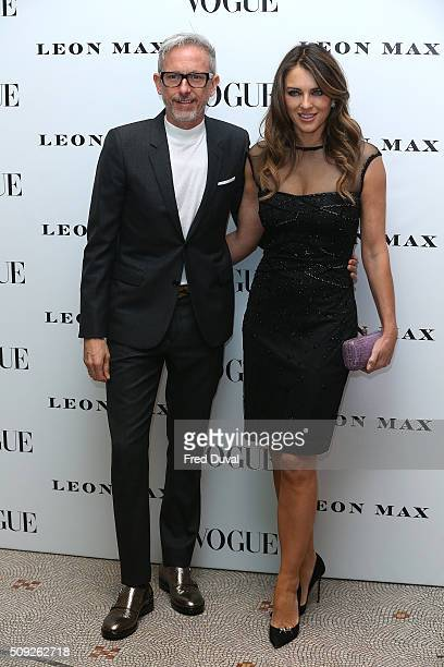 Patrick Cox and Liz Hurley attend the opening of Vogue 100 A Century of Style at National Portrait Gallery on February 9 2016 in London England