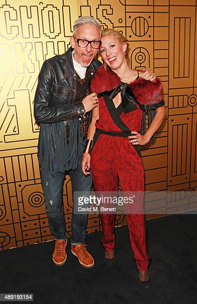 Patrick Cox and Princess Alexandra Massimo di Roccasecca attend Nicholas Kirkwood 10 year collection Launch and Party during London Fashion Week on...