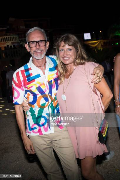 Patrick Cox and Serena Cook attend Ibiza Preservation Foundation 10th Anniversary Party at Los Olivos estate on August 22 2018 in Ibiza Spain