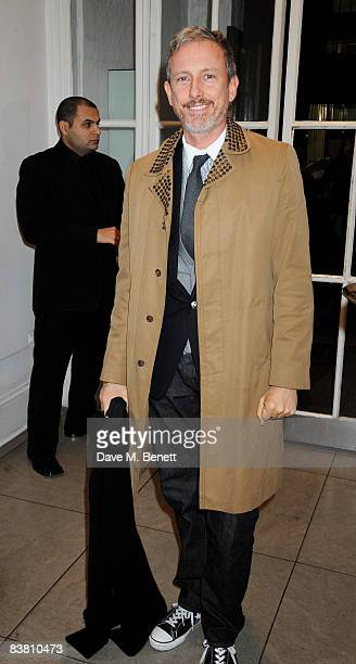 Patrick Cox attends a private party to see the Christmas lights switch on at the Stella McCartney store on November 24 2008 in London England