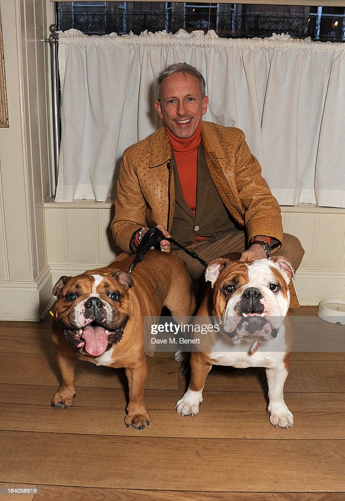 Patrick Cox attends Dine for Dogs Trust, launching a dog friendly menu at The George Club on March 19, 2013 in London, England.