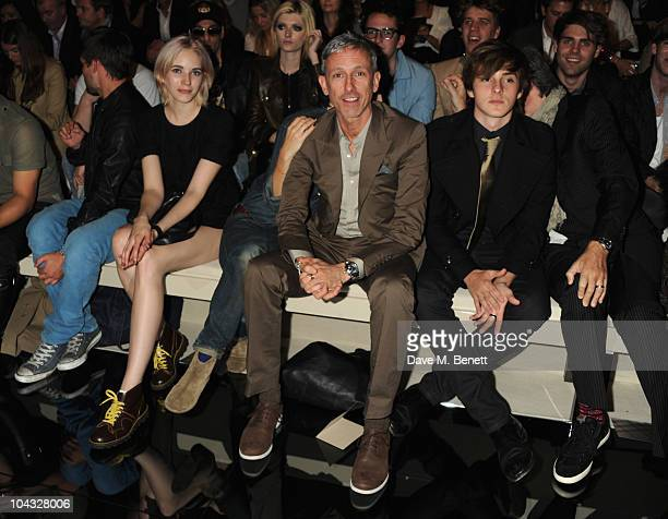 Patrick Cox attends the Burberry Prorsum Spring/Summer 2011 fashion show during LFW at Chelsea College of Art and Design on September 21 2010 in...
