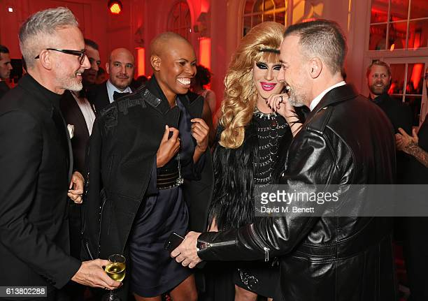Patrick Cox Skin Jodie Harsh and David Furnish attend the Attitude Awards 2016 in association with Virgin Holidays at 8 Northumberland Avenue on...