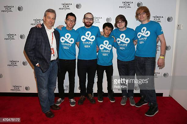 Patrick Creadon Hai Lam Daerek Hart An Le Zachary Scuderi and Will Hartman attend the premiere of All Work All Play during the 2015 Tribeca Film...