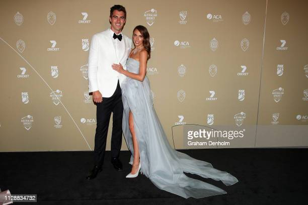 Patrick Cummins and Rebecca Boston attend the 2019 Australian Cricket Awards at Crown Palladium on February 11 2019 in Melbourne Australia