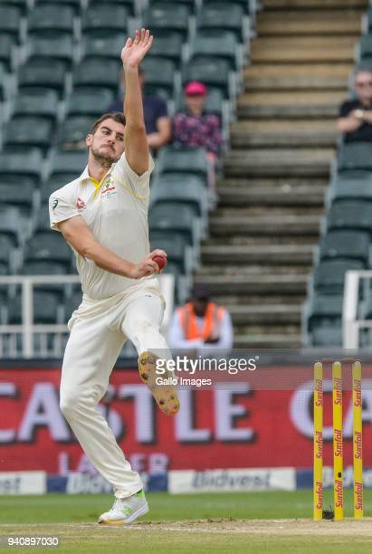 Patrick Cummins of Australia during day 4 of the 4th Sunfoil Test match between South Africa and Australia at Bidvest Wanderers Stadium on April 02...