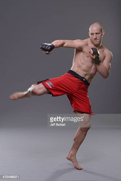 Patrick Cummins poses for a portrait during a UFC photo session on February 19 2014 in Las Vegas Nevada