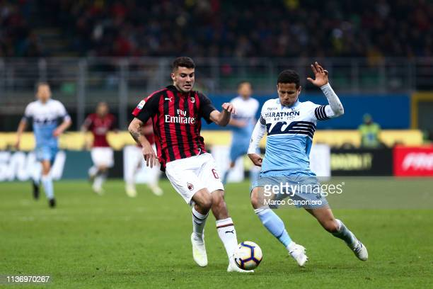 Patrick Cutrone of Ac Milan and Joaquin Correa of SS Lazio in action during the Serie A football match between Ac Milan and SS Lazio Ac Milan wins 10...