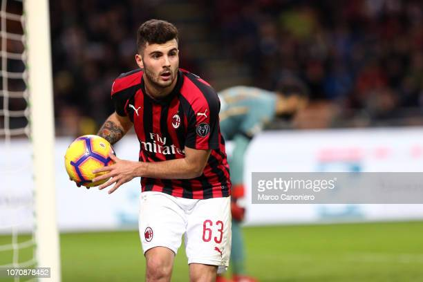 Patrick Cutrone of Ac Milan during the Serie A football match between AC Milan and Torino Fc The match end in a tie 00