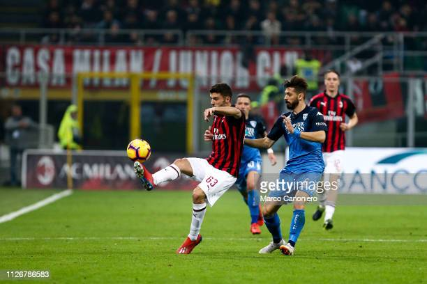Patrick Cutrone of Ac Milan during the Serie A football match between AC Milan and Empoli Fc Ac Milan wins 30 over Empoli Fc