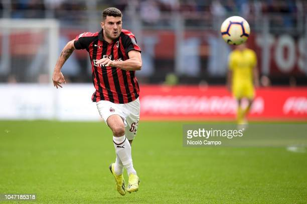 Patrick Cutrone of AC Milan in action during the Serie A football match between AC Milan and AC ChievoVerona AC Milan won 31 over AC ChievoVerona
