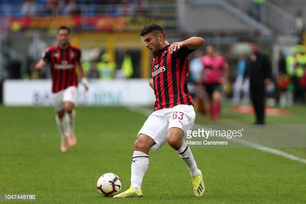 Patrick Cutrone of Ac Milan in action during the Serie A football match between AC Milan and AC Chievo Verona Ac Milan wins 31 over AC Chievo Verona