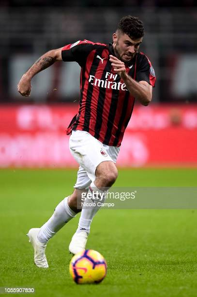 Patrick Cutrone of AC Milan in action during the Serie A football match between AC Milan and Genoa CFC AC Milan won 21 over Genoa CFC