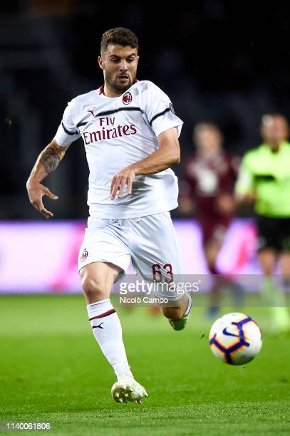 Patrick Cutrone of AC Milan in action during the Serie A football match between Torino FC and AC Milan Torino FC won 20 over AC Milan