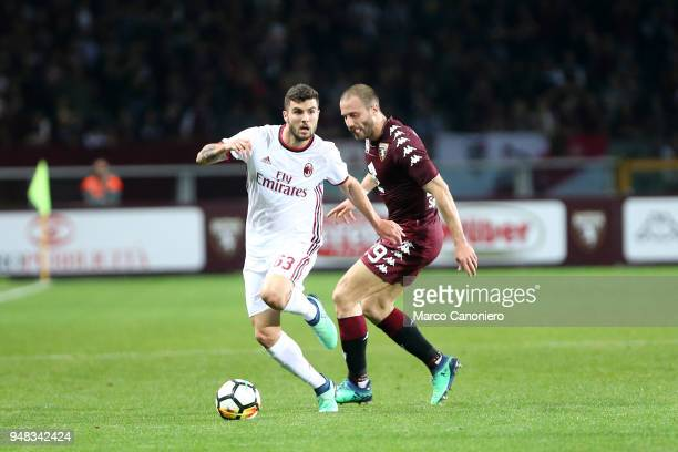Patrick Cutrone of Ac Milan in action during the Serie A football match between Torino Fc and Ac Milan The match end in a tie 11