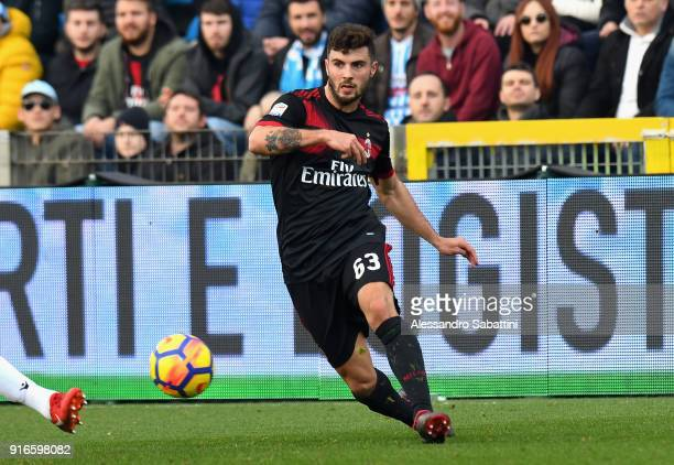 Patrick Cutrone of AC Milan in action during the serie A match between Spal and AC Milan at Stadio Paolo Mazza on February 10 2018 in Ferrara Italy