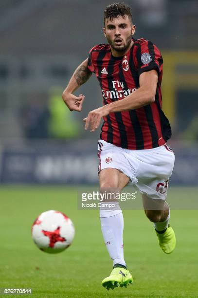 Patrick Cutrone of AC Milan in action during the UEFA Europa League qualifier football match between AC Milan and CSU Craiova AC Milan wins 20 over...