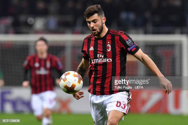 Patrick Cutrone of AC Milan in action during UEFA Europa League Round of 32 match between AC Milan and Ludogorets Razgrad at the San Siro on February...