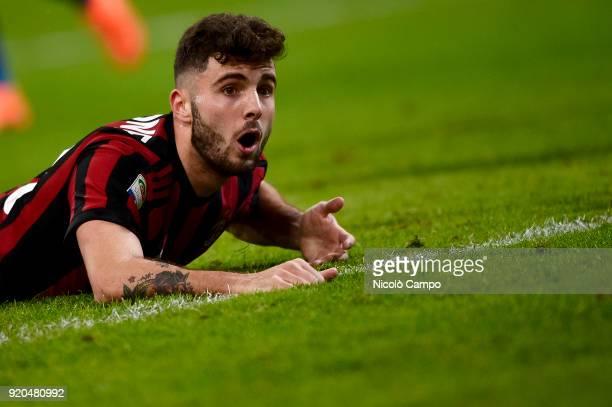 Patrick Cutrone of AC Milan looks on during the Serie A football match between AC Milan and UC Sampdoria AC Milan won 10 over UC Sampdoria