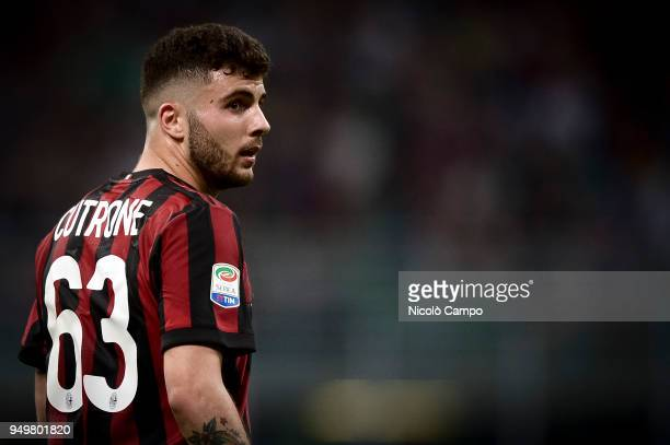 Patrick Cutrone of AC Milan looks on during the Serie A football match between AC Milan and Benevento Calcio Benevento Calcio won 10 over AC Milan