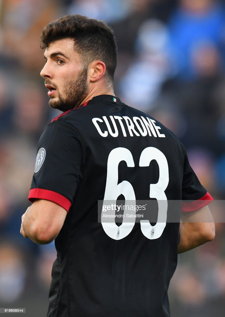 Patrick Cutrone of AC Milan looks on during the serie A match between Spal and AC Milan at Stadio Paolo Mazza on February 10, 2018 in Ferrara, Italy.