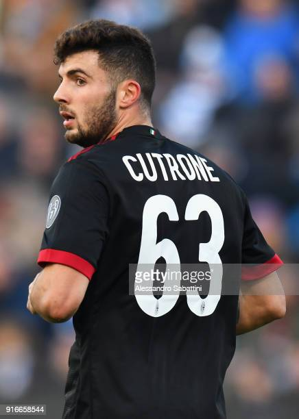 Patrick Cutrone of AC Milan looks on during the serie A match between Spal and AC Milan at Stadio Paolo Mazza on February 10 2018 in Ferrara Italy