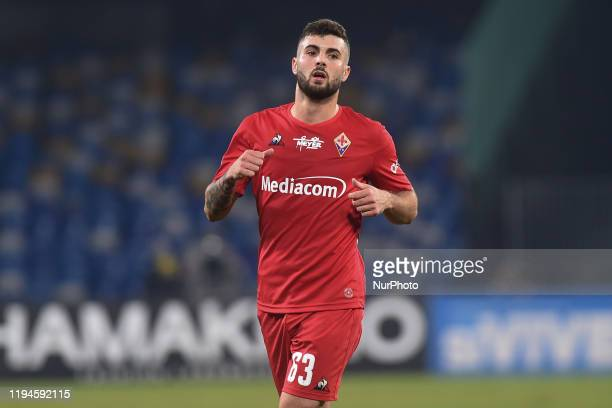 Patrick Cutrone of ACF Fiorentinaduring the Serie A match between SSC Napoli and ACF Fiorentina at Stadio San Paolo Naples Italy on 18 January 2020