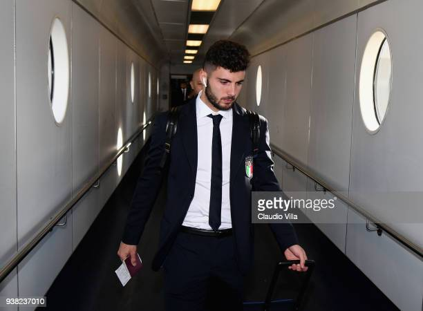 Patrick Cutrone of Italy departs to London on March 26 2018 in London England