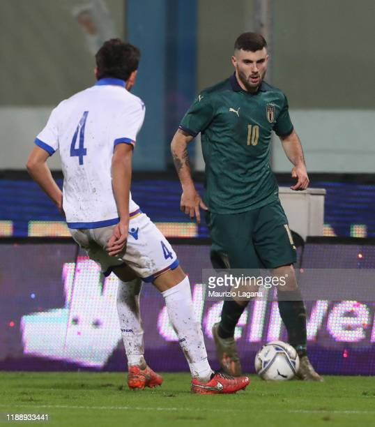 Patrick Cutrone of Italy during UEFA U21 European Championship Qualifier match between Italy and Armenia at Stadio Angelo Massimino on November 19...