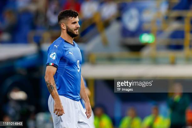 Patrick Cutrone of Italy looks on during the 2019 UEFA U21 Group A match between Italy and Poland at Renato Dall'Ara Stadium on June 19 2019 in...