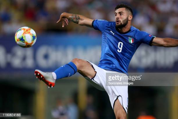 Patrick Cutrone of Italy U21 during the EURO U21 match between Italy v Poland at the Stadio Renato Dall'Ara on June 19 2019 in Bologna Italy
