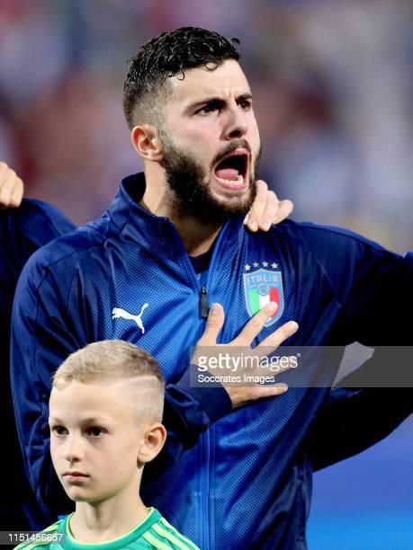 Patrick Cutrone of Italy U21 during the EURO U21 match between Belgium v Italy at the MAPEI Stadium Città del Tricolore on June 22 2019 in Reggio...