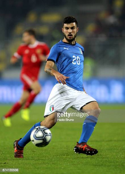Patrick Cutrone of Italy U21 in action during the international friendly match between Italy U21 and Russia U21 on November 14 2017 in Frosinone Italy