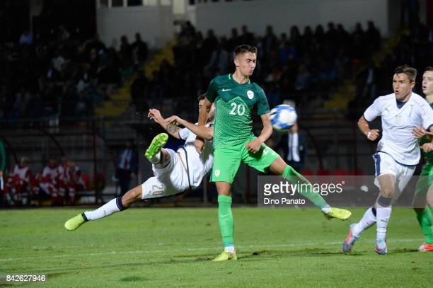 Patrick Cutrone of Italy U21 in action during the U21 international friendly match between Italy and Slovenia at Stadio Pier Cesare Tombolato on...