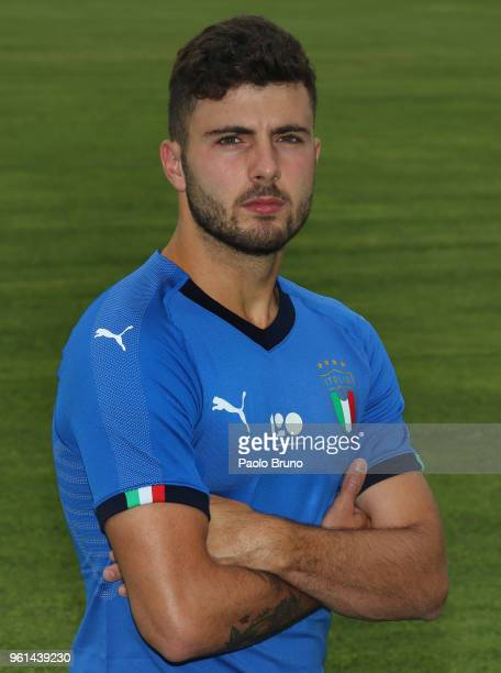 Patrick Cutrone of Italy U21 poses during the Italy U21 portrait session on May 22 2018 in Rome Italy