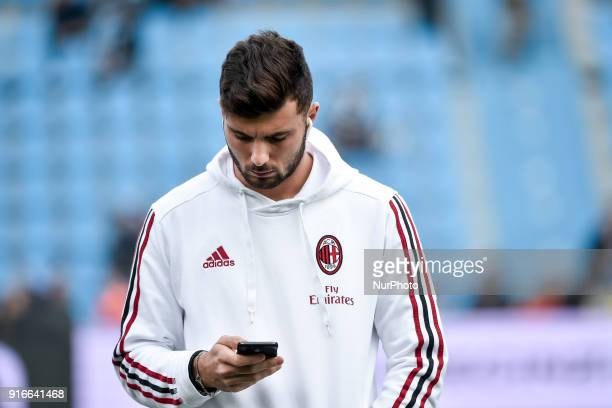 Patrick Cutrone of Milan during the Serie A match between SPAL and AC Milan at Paolo Mazza Stadium Ferrara Italy on 10 February 2018