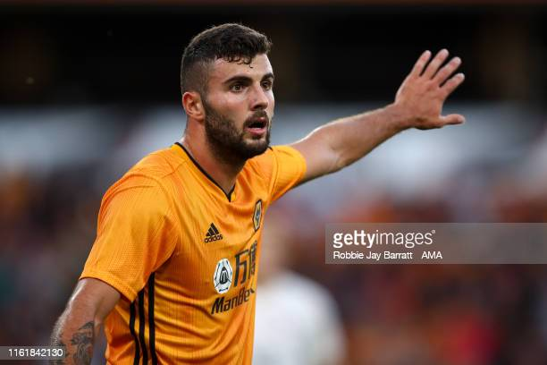 Patrick Cutrone of Wolverhampton Wanderers during the UEFA Europa League Third Qualifying Round Second Leg between Wolverhampton Wanderers and FC...