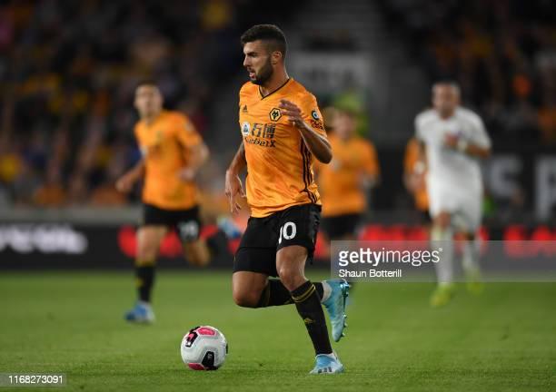 Patrick Cutrone of Wolverhmpton Wanderers runs with the ball during the UEFA Europa League Third Qualifying Round Second Leg between Wolverhampton...