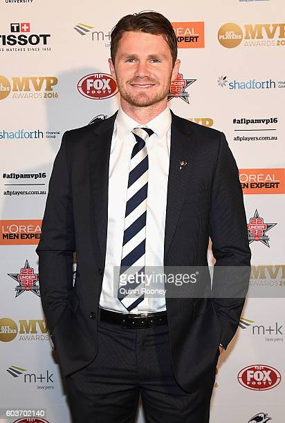 Patrick Dangerfield of the Cats arrives at the 2016 AFL Players MVP Awards at Peninsula on September 13 2016 in Melbourne Australia