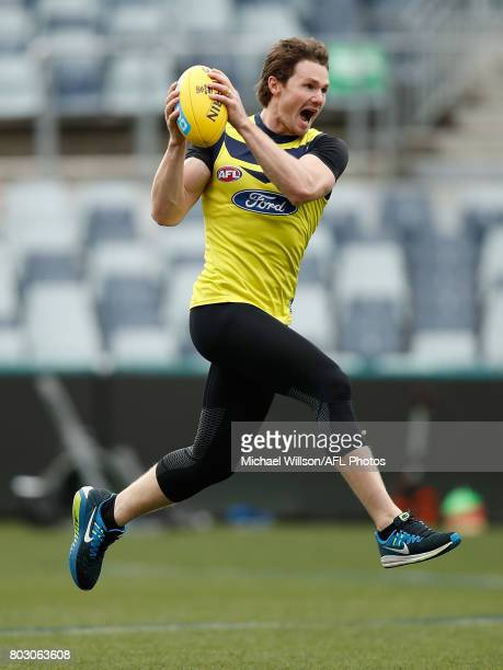 Patrick Dangerfield of the Cats in action during a Geelong Cats AFL training session at Simonds Stadium on June 29 2017 in Geelong Australia